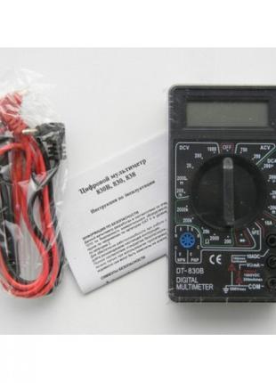 Цифровой Профессиональный мультиметр DT-830B тестер вольтметр