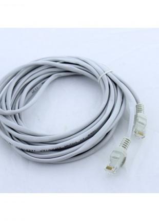 Сетевой кабель для интернета LAN 5 м BRT 13525-8 Серый (46933)