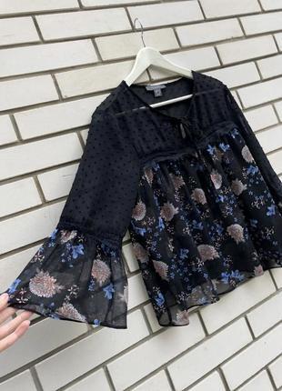Кружевная цветочная блузка   большого размера батал primark