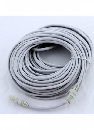 Сетевой кабель для интернета LAN 20 м BRT 13525-10 Серый (46931)