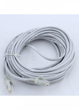 Сетевой кабель для интернета LAN 10 м BRT 13525-9 Серый (46932)