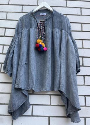 Свободная блузка туника в этно бохо стиле хлопок wiya tu