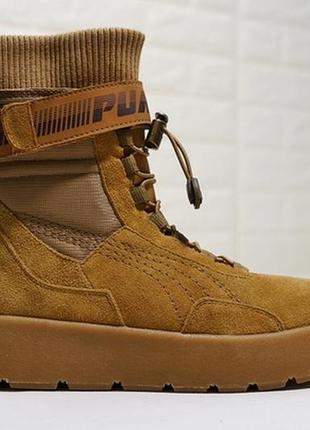 Puma x fenty scuba boot orange женские демисезонные кроссовки ...