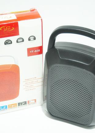 Bluetooth колонка YF 608 black портативная мобильная колонка