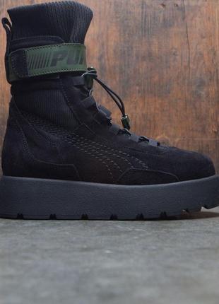 Puma x fenty scuba boot black женские демисезонные кроссовки б...