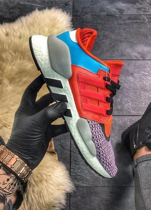 Мужские беговые кроссовки adidas eqt 91/18 red violet blue ади...