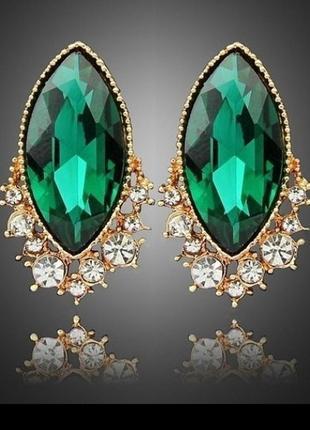 🏵️эксклюзивные нарядные серьги с кристаллами, новые! арт. 6971