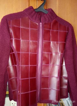 Костюм женски кожаный (куртка+юбка)