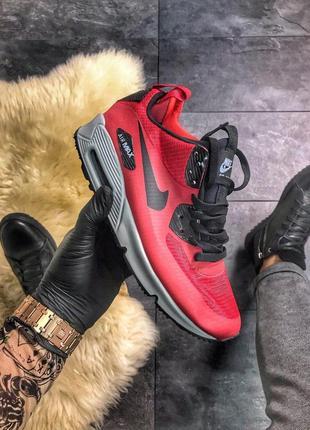 🔥nike air max 90 mid winter red🔥мужские красные кроссовки найк...