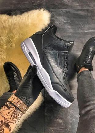 Высокие мужские кроссовки nike air jordan 4 retro black, найк,...