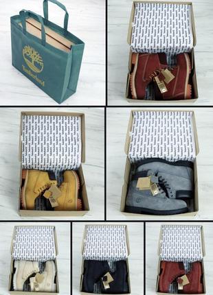 Timberland натуральные зимние ботинки сапоги