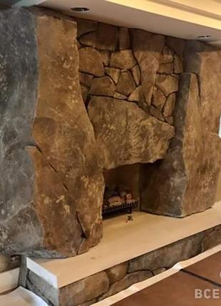 Печи и камины. Декоративная отделка. Имитация камня.