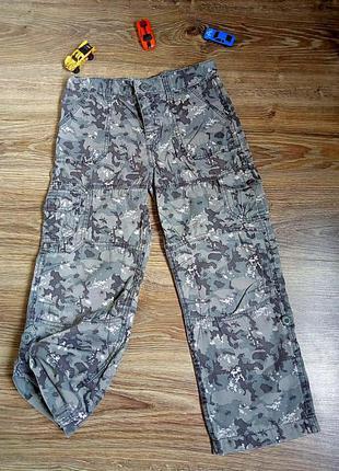 Камуфляжные хлопковые брюки штаны
