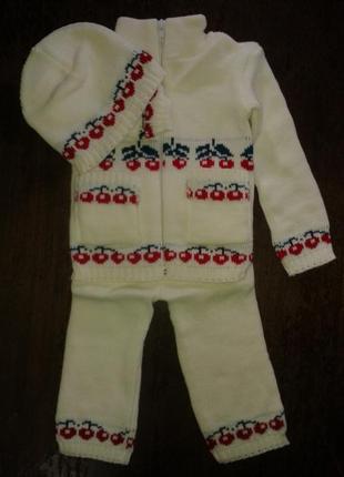 Костюмчик на девочку (1 год) белый