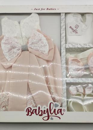 Платье для крещения набор новорожденного подарок