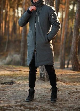 Мужская зимняя куртка шикарная стильная теплая