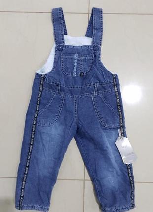 Комбенизон джинсовый утепленный