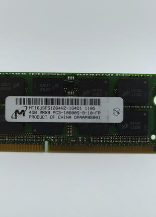 Оперативная память для ноутбука SODIMM Micron DDR3 4Gb 1333MHz...