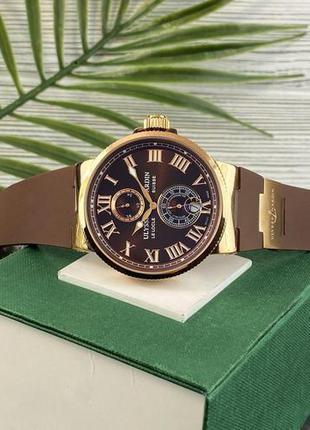 Наручные часы Ulysse Nardin Maxi Marine AAA Gold-Brown