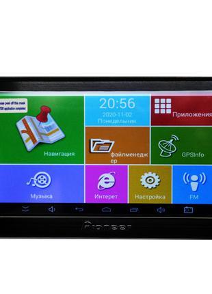 Надежный 7'' GPS навигатор Pioneer 711 Android 4 Ядра 8 Gb пла...