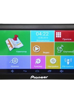 7'' GPS навигатор Pioneer 718 Android 4 Ядра 8 Gb планшет на а...