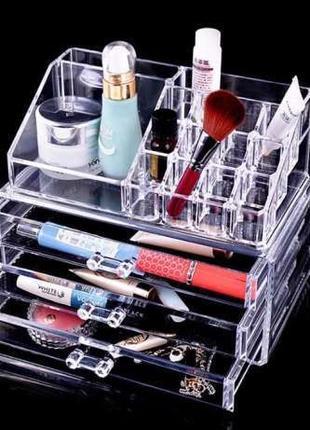 Акриловый настольный органайзер для косметики Cosmetic Organizer