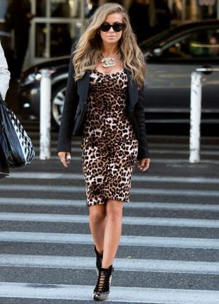Платье/коктельное платье/трендовое/нарядное/леопардовый принт/...