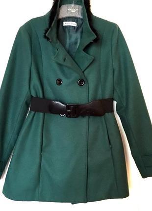 Пальто демисезонное изумрудное marika pinto полупальто весенни...