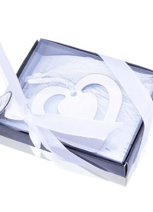 """Закладка для книг """"Двойное сердце"""""""