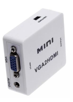 Переходник конвертер перехідник VGA to HDMI + AUDIO 1080 / vga...
