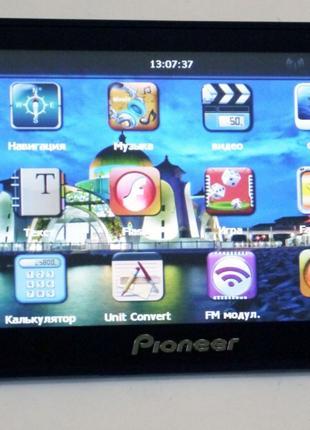 "7"" GPS навигатор Pioneer 713 - 8gb 800mhz 256mb IGO+Navitel"