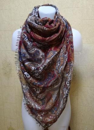 Объемный длинный широкий шарф палантин