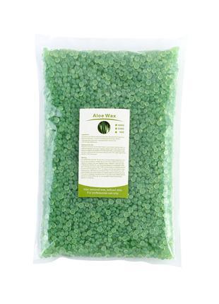 Воск в гранулах Doll Wax Aloe для депиляции пленочный 1 кг (IM...