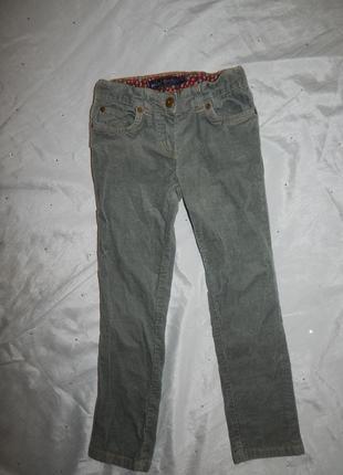 Брюки штаны вельветовые модные на девочку 7 лет