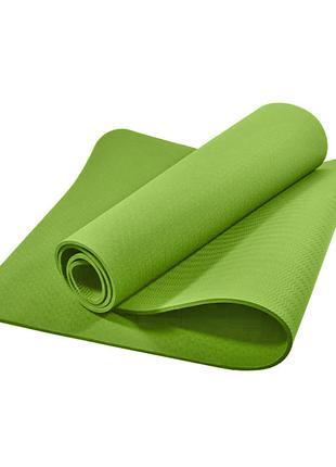 Коврик для фитнеса и йоги TPE Dobetters DBT-YG6 Green 1830*610...