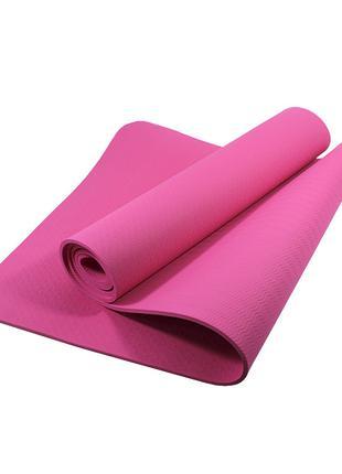 Коврик для фитнеса и йоги TPE Dobetters DBT-YG6 Pink 1830*610*...