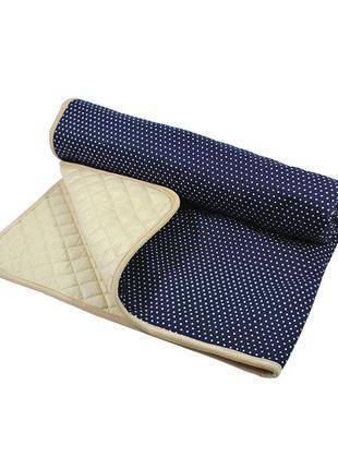 Матрас для вигвама Lesko D001 Горошек Navy Blue детский коврик