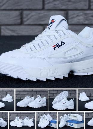Sale😱кожаные зимние филы кроссовки ботинки мужские на меху❄️