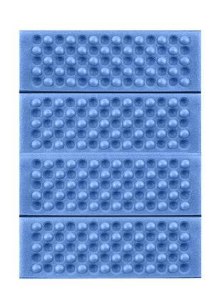 Туристический складной коврик сидушка Lesko Shanpeng Blue каре...