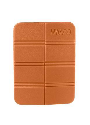 Складной коврик сидушка WWAGO Orange каремат портативный для о...