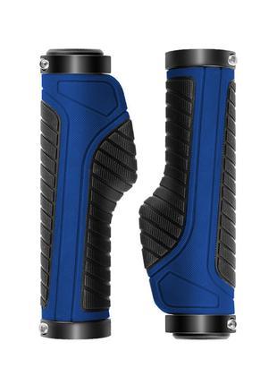 Анатомические грипсы West Biking 0804021 Blue ручки для руля в...