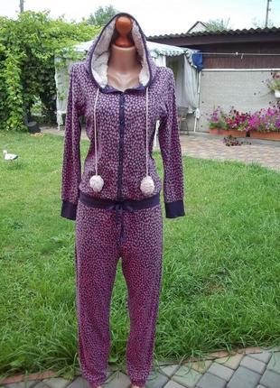 44 / 46 р домашний флисовый комбинезон пижама кигуруми