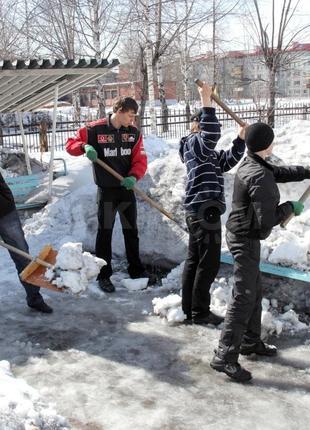 Уборка снега чистка снега