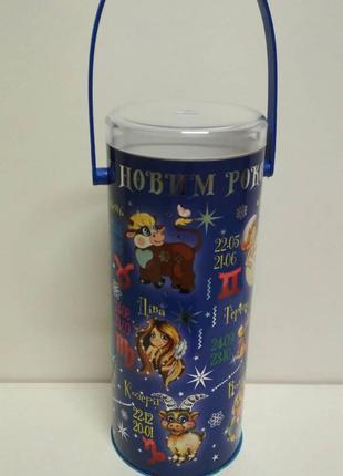 Упаковка для подарков на новый год тубус средний, Гороскоп(d-8...