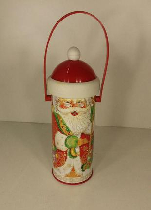 Новогодняя упаковка для детских подарков тубус средний, Дед Мо...
