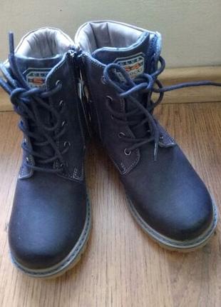 Кожаные ботиночки на мальчика, 30 размер