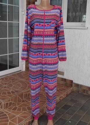 48 р флисовый  комбинезон пижама кигуруми