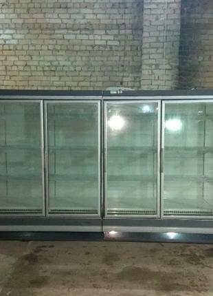 Пристенная холодильная витрина регал горка б\у 5метров