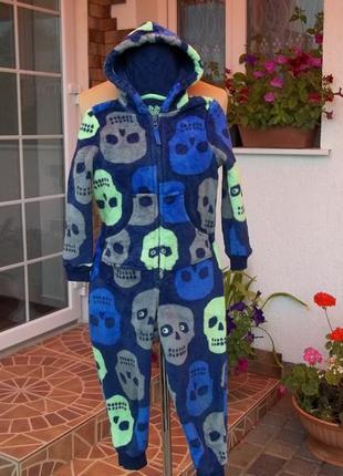 6 - 7 лет толстый флисовый теплый комбинезон пижама кигуруми слип