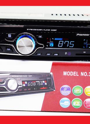 1 din Автомагнитола Pioneer 3228BT Bluetooth 1 дин магнитола в...